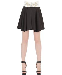 STEFANO DE LELLIS | Embellished Pleated Crepe Skirt