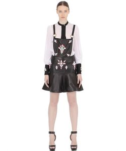 STEFANO DE LELLIS | Embellished Nappa Leather Overall Dress
