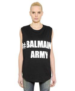 Balmain | Футболка Army Из Хлопкового Джерси