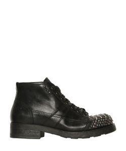 Oxs | Кожаные Ботинки-Комбат С Заклёпками