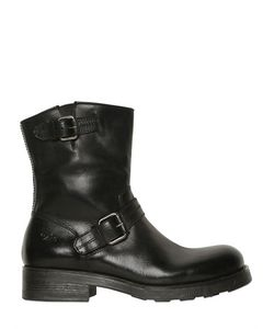 Oxs   Кожаные Ботинки С Застёжками-Пряжками