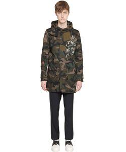 Valentino | Хлопковое Пальто С Камуфляжным Принтом