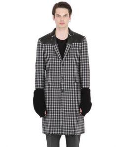 VAR CITY | Пальто Из Шерстяного Жаккарда И Трикотажа