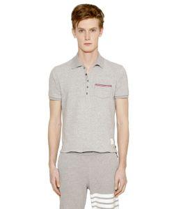 Thom Browne | Рубашка-Поло Из Хлопкового Джерси