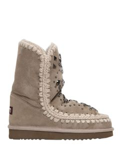 Mou | Ботинки Eskimo Из Овчины Со Стразами 20mm