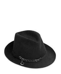 Stella Mccartney | Шляпа Из Шерстяного Фетра С Металлической Цепочкой