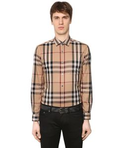 Burberry | Check Stretch Cotton Poplin Shirt