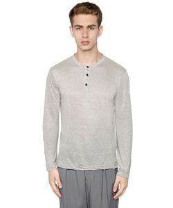 Giorgio Armani | Linen Jersey Long Sleeve T-Shirt