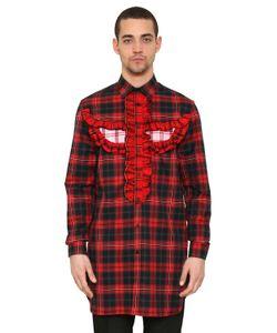 Givenchy | Хлопковая Рубашка Totem В Клетку С Оборками