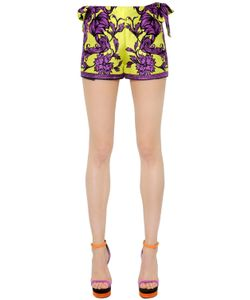 Versace | Wrapped Printed Silk Twill Shorts