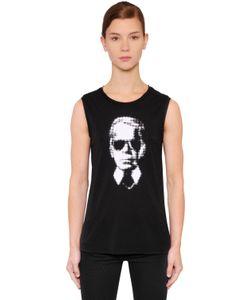 Karl Lagerfeld   Майка Karl Pixel Из Хлопкового Джерси