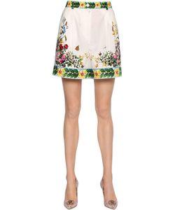 Dolce & Gabbana   Шорты Из Поплин С Принтом Bouquet