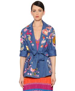 Temperley London | Embroide Cool Wool Linen Jacket