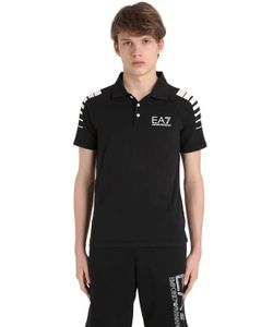 EA7 EMPORIO ARMANI | Рубашка-Поло Из Хлопкового Джерси