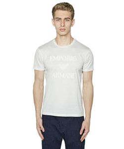 Emporio Armani | Embroide Logo Cotton Jersey T-Shirt