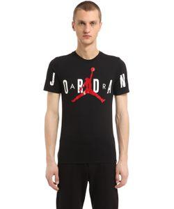 Nike | Хлопковая Футболка Air Jordan С Принтом