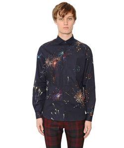 Valentino | Рубашка Из Поплин С Принтом Фейерверк