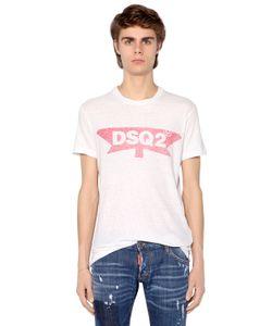 Dsquared2 | Футболка Из Хлопкового Джерси С Принтом