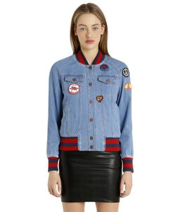 Tommy Hilfiger | Gigi Hadid Patches Denim Bomber Jacket