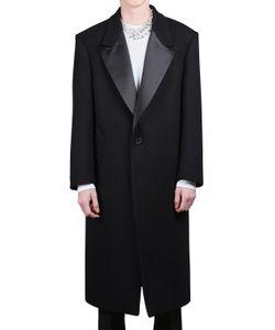 Raf Simons | Шерстяное Пальто С Атласными Лацканами