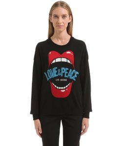 Love Moschino | Свитер Love Peace Из Жаккард-Трикотажа