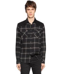 Diesel | Рубашка Из Фланели В Клетку И Вельвета