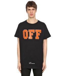 Off White | Футболка Из Хлопкового Джерси С Принтом