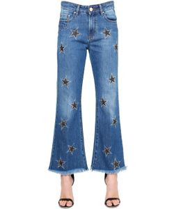 Don'T Cry | Stars Embroidered Flared Denim Jeans