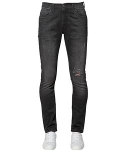 Bikkembergs | 16cm Skinny Stretch Cotton Denim Jeans