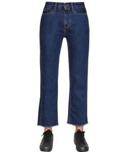 Calvin Klein Jeans | Straight Cropped Cotton Denim Jeans