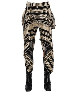 Gareth Pugh | Asymmetric Ruffled Linen Blend Pants