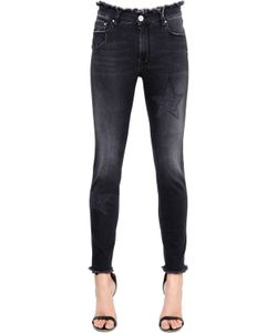 Don'T Cry | Skinny Mid Rise Embroidered Denim Jeans