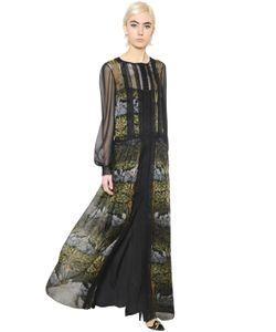 Alberta Ferretti | Платье Из Шифона И Кружева С Цветочным Принтом