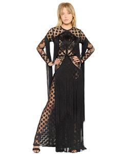 Elie Saab | Платье Из Тюля С Кружевом И В Горошек