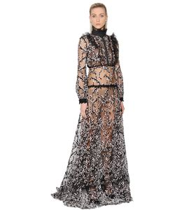 Giambattista Valli | Платье Из Кружевного Тюля С Кристаллами Swarovski