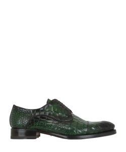Harris | Туфли-Дерби Из Кожи С Крокодиловым Тиснением