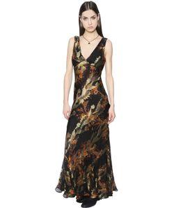 Etro | Платье Из Шёлкового Шифона И Ламé С Принтом