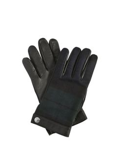 Dsquared2 | Перчатки Из Кожи И Шерстяной Фланели