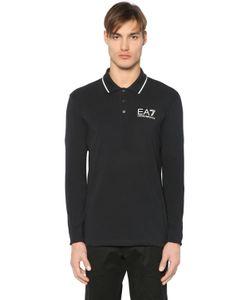 EA7 | Рубашка-Поло Из Хлопкового Джерси С Логотипом