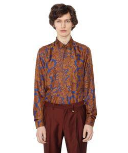 LORDS & FOOLS | Рубашка Из Шёлковой Саржи С Цветочным Принтом