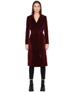 TAGLIATORE 0205 | Long Cotton Velvet Coat