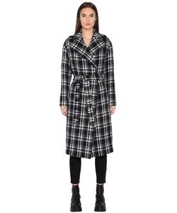 TAGLIATORE 0205 | Double Breasted Plaid Boiled Wool Coat