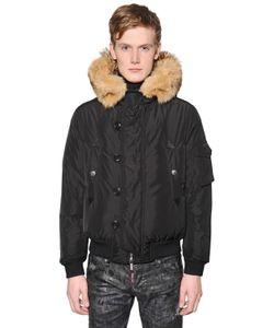 Dsquared2 | Куртка-Бомбер Из Нейлона С Меховой Отделкой
