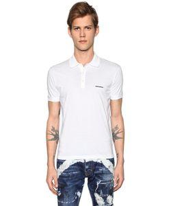 Dsquared2 | Рубашка-Поло Из Хлопкового Джерси С Логотипом
