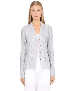 Transit Par-Such | Striped Cotton Linen Blend Jacket