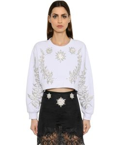 Francesco Scognamiglio | Crystal Embellished Jersey Sweatshirt