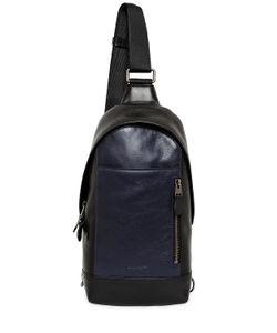 COACH | Двухцветный Кожаный Рюкзак