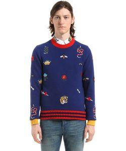 Gucci | Свитер Из Шерстяного Трикотажа С Вышивкой
