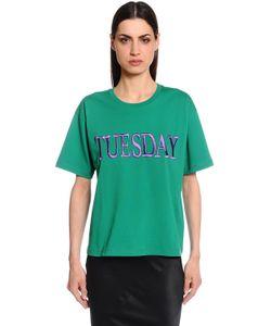 Alberta Ferretti | Футболка Tuesday Из Хлопкового Джерси