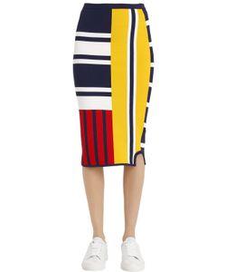 Tommy Hilfiger | Gigi Hadid Patchwork Viscose Knit Skirt